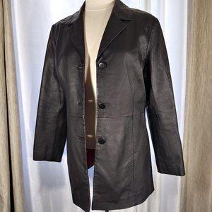 Kim Rogers Classic Leather Blazer Sz M